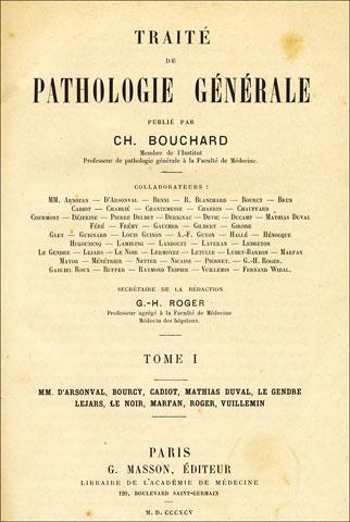Image result for Traité de Pathologie Générale bouchard