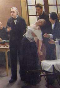 Detalle del conocido cuadro sobre Charcot