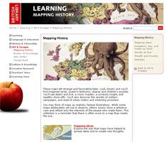 Captura de pantalla del sitio