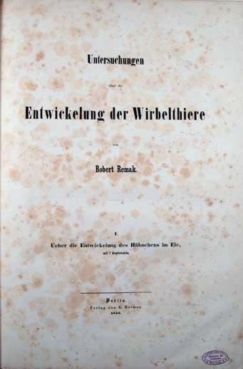 Portada del libro Untersuchungen über die Entwickelung der Wirbelthiere
